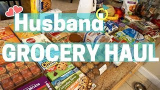 HUSBAND Does the GROCERY SHOPPING HAUL!