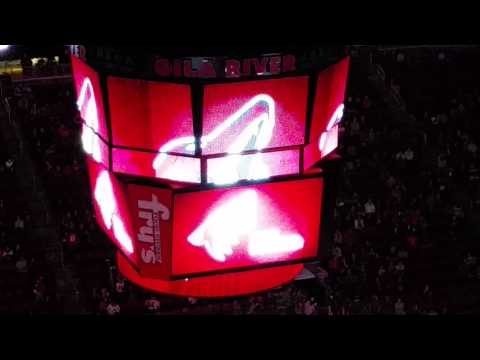 Arizona Coyotes intro video and team entrance vs Dallas 2-18-16