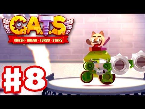 CATS: Crash Arena Turbo Stars - Gameplay Walkthrough Part 8 - Military Boulder with Blades! (iOS)