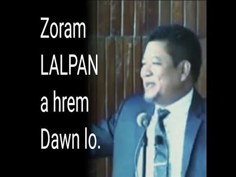 Zoram Lalpan a hrem dawn lo - Evan. R. Lalthantluanga