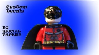 How To Make Lego Decals Without Waterslide Paper