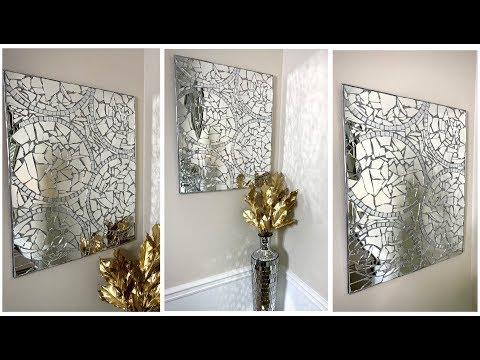 new-mosaic-wall-art-diy-||-modern-glam-home-decor