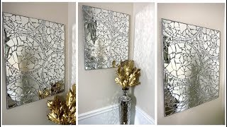 New Mosaic Wall Art DIY || Modern Glam Home Decor