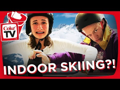 GEX OG ANNA BRIAND TESTER INDOOR SKIING!!