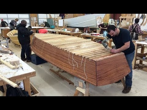Amazing Modern Technology Construction Biggest Wooden Boat Building, Heavy Skill Boat Built Project