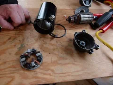 Servicing/rebuild your starter motor