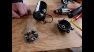 Servicing/rebuild your starter motor
