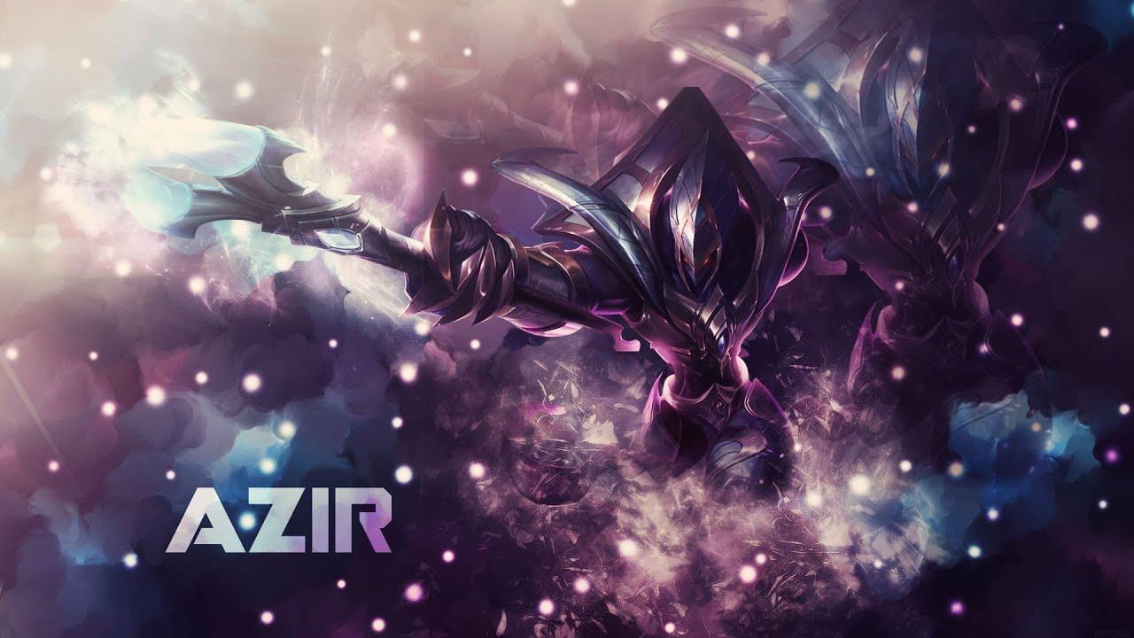 Galactic Azir League Of Legends Photoshop Speed Art