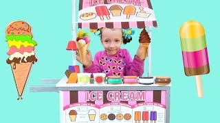 ICE CREAM CART! Kids Building Ice Cream shop, Popsicle, and Sweets