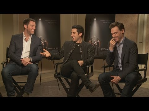 with John Lloyd Young, Erich Bergen, and Michael Lomenda of Jersey Boys