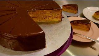 Klassische Prinzregententorte - Prinz-Regenten-Torte - Vanillebiskuit Schokobuttercreme - Kuchenfee