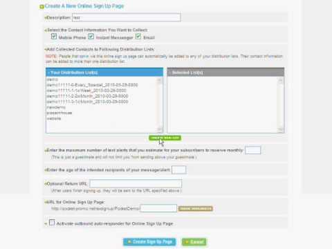 Creating a Mobile Marketing Website Widget - Pocket-Promo.com - Mobile SMS Text Message Marketing