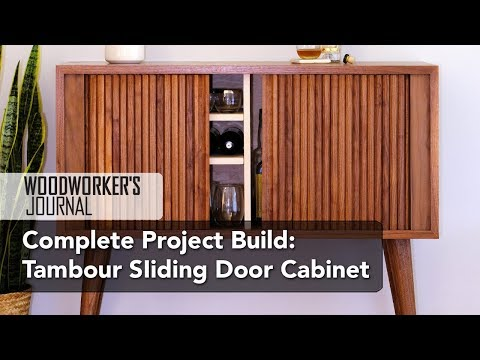 Build a Mid-Century Tambour Cabinet - Complete Project Build