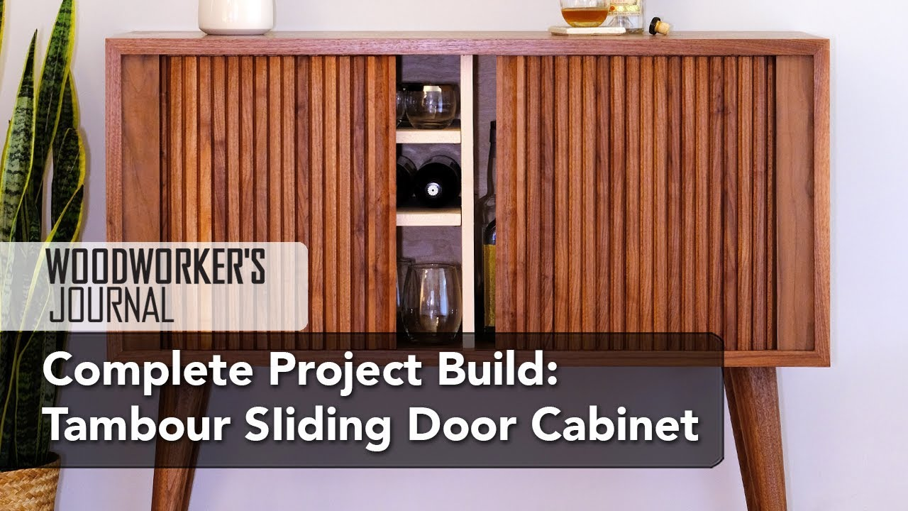 Build A Mid Century Tambour Cabinet Complete Project Build Youtube