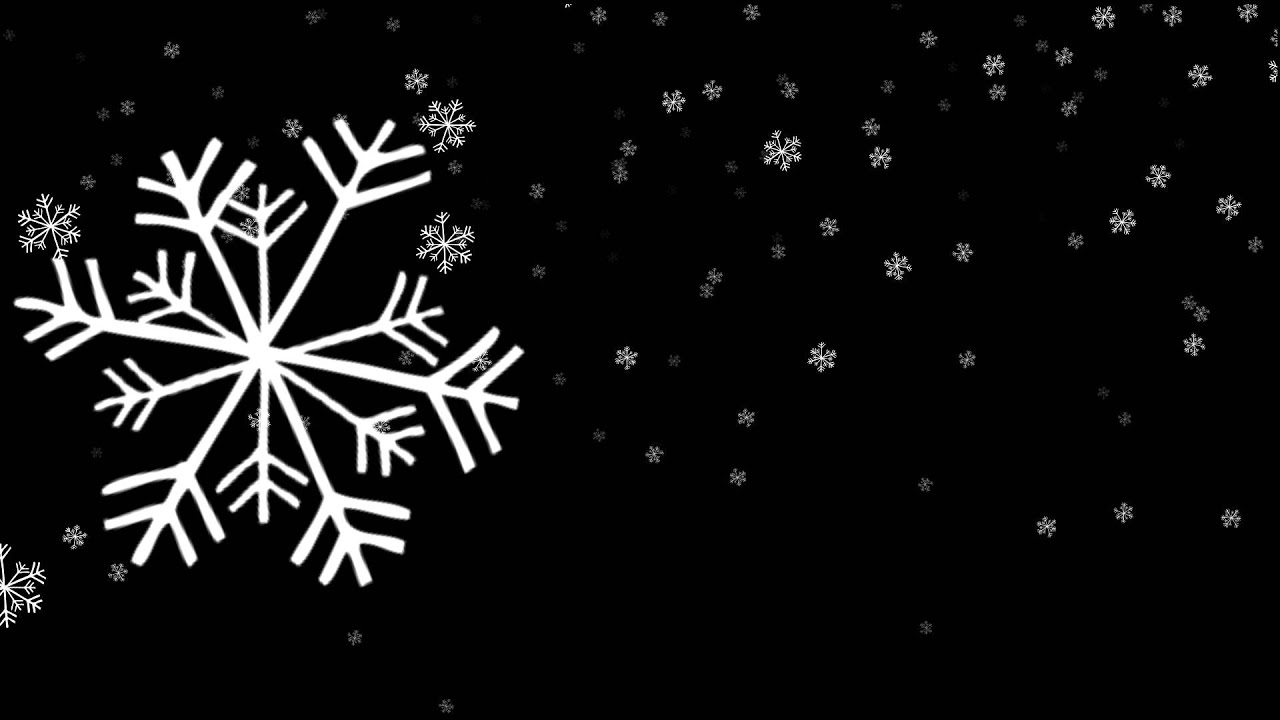 fluffy snowflakes falling big - free HD overlay footage ...