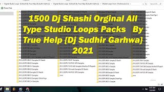 Orginal Studio Loops  Dj Shashi By True Help {Dj Sudhir Garhwa}