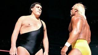 Andre The Giant Vince McMahon, Hulk Hogan, Arnold Schwarzenegger العملاق الفرنسي أندريه