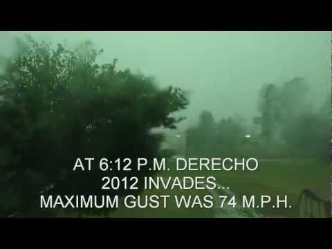 Derecho affecting Center, Ohio (Just east of Cambridge)