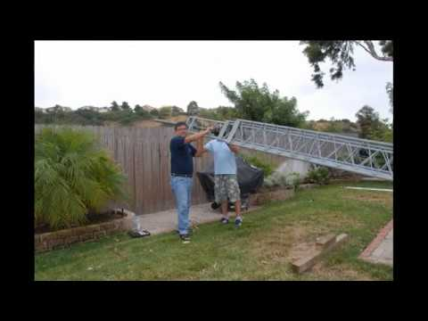 How to install a crank up tower, antenna, Comic Con 2012 & food demo Part 26