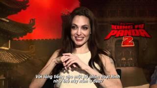 Kungfu Panda 2 - Ngô Thanh Vân trò chuyện cùng Angelina Jolie & Jack Black
