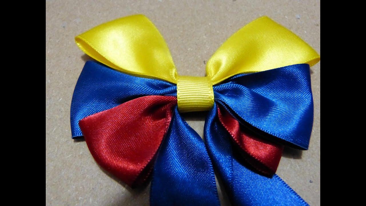 Como hacer mo os en cinta mo os tricolor para el cabello - Para hacer monos ...