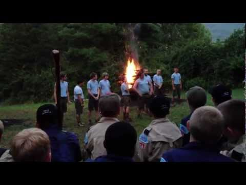 """If I Were Not a Boy Scout"" Skit/Song at Camp Ross, Goshen Scout Reservation Campfire (Raw video)"