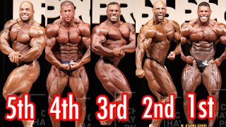 New York Pro Final Comparisons And Placings 2018