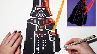 Amazing Star Wars Drawing Darth Vader Pixel Art Bonus