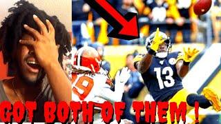BROWNS VS STEELERS REACTION NFL WEEK 13 HIGHLIGHTS - GOT BOTH OF THEM !!