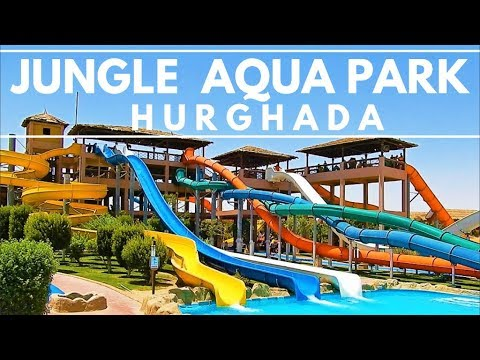 Walk Around Jungle Aqua Park Hotel - Tour 2018 (July) ||4K - Hurghada, Egypt, Ägypten