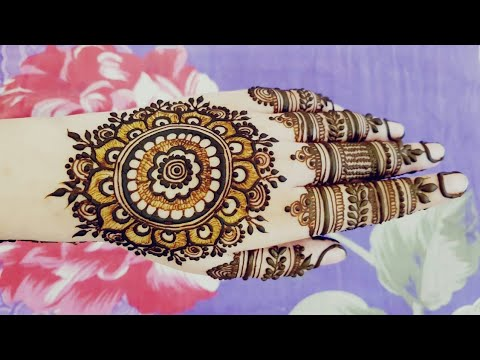 Special Mandala Henna Design For Eid 2018 Heena Vahid Youtube