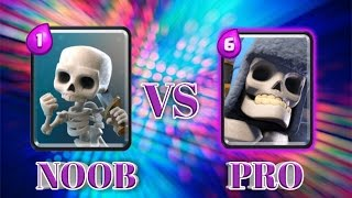 Clash Royale: NOOB VS PRO