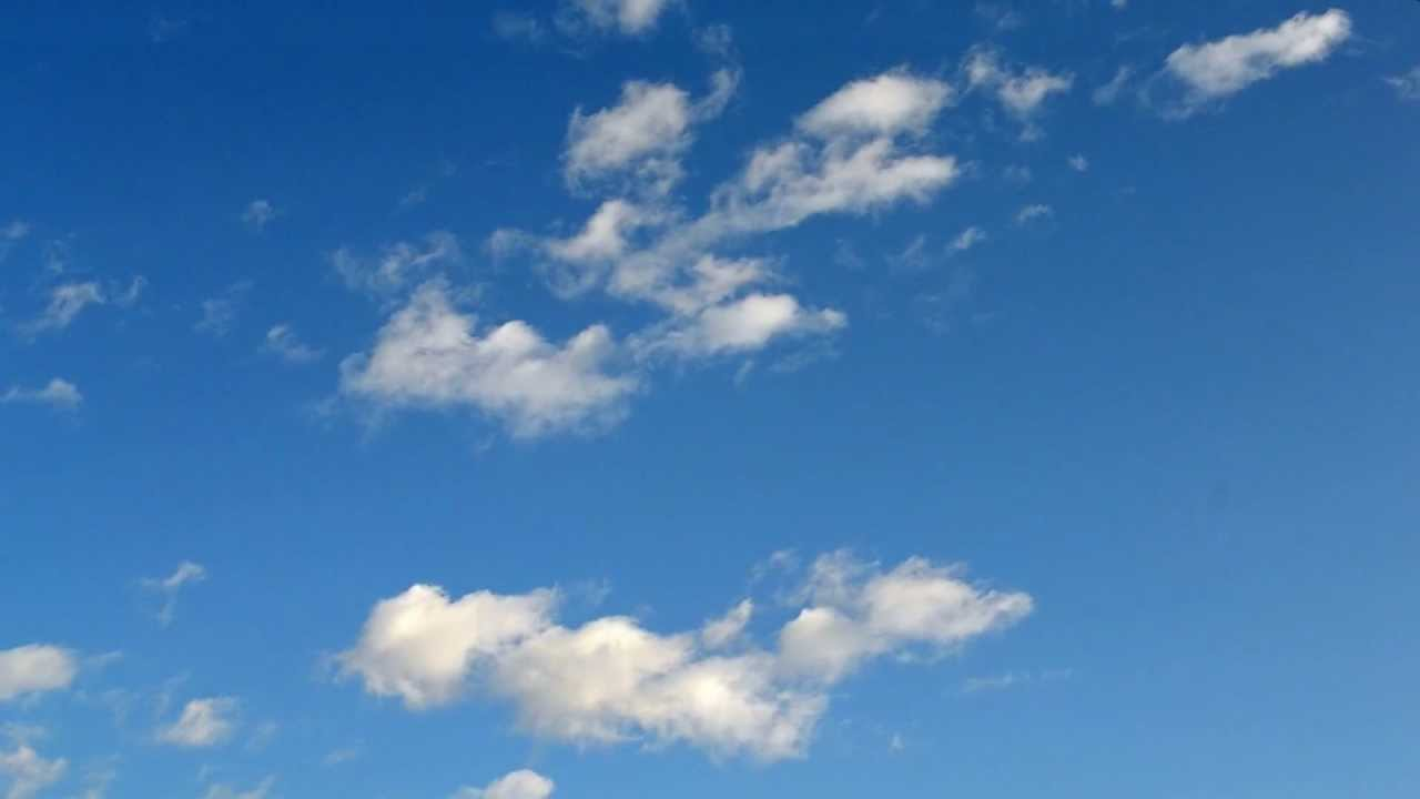 blue sky with clouds free footage youtube