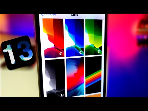 8 NEW IOS 13 DYNAMIC WALLPAPER DOWNLOAD / HOW TO GET ALL NEW IOS 13 WALLPAPERS/ NIGHT MODE WALLPAPER