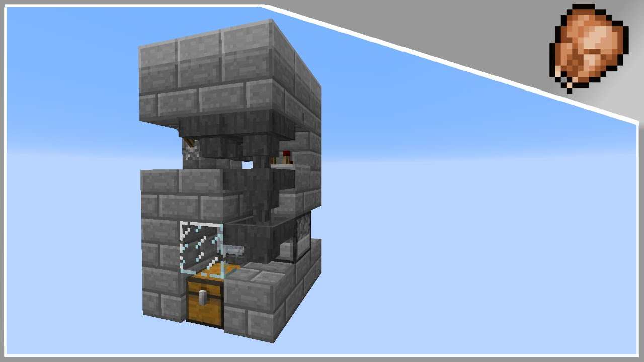 Minecraft Tutorial 3x3 Automated Chicken Farm Cooker 18