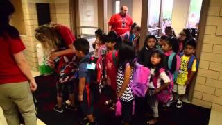Round Lake School District 116 kindergarten students first day