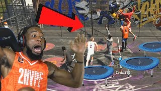 *New* Caged TRAMPOLINE PARK! 2Hype w/ Troydan! NBA 2K19 Park Mode