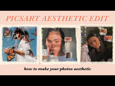 ☾ how to make your photos aesthetic // Picsart aesthetic edits