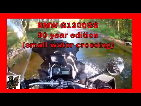 BMW R1200GS Adventure 90 Year Edition - small water crossing