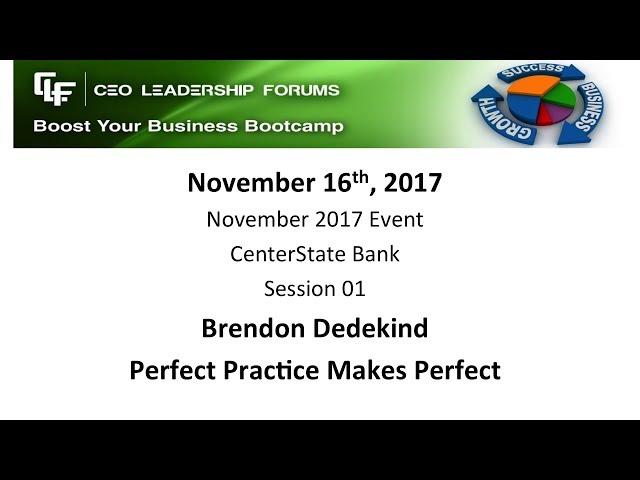 2017 11 16 CEO Leadership Forums Event - Session 01 Dedekind