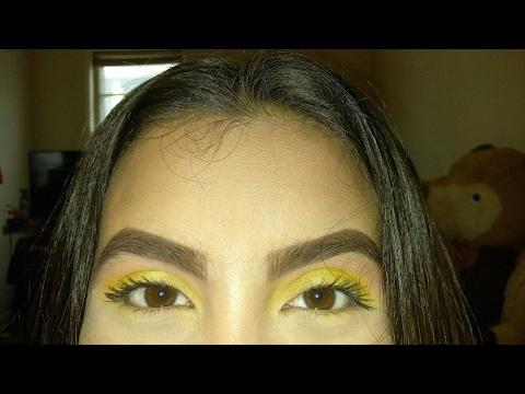 Peachy Yellow Eye Look Morphe 35B Color Glam Palette | Cynthia Ramos