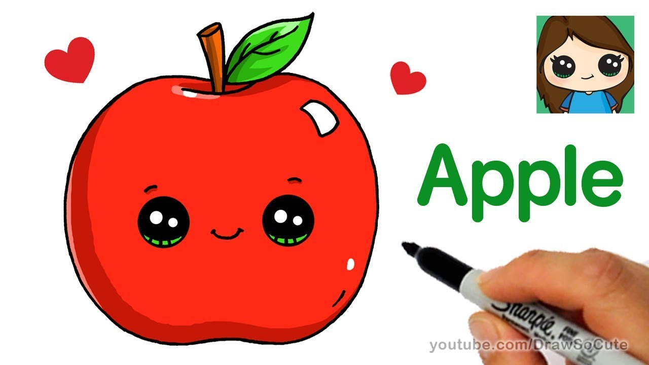 How To Draw An Apple Easy Youtube