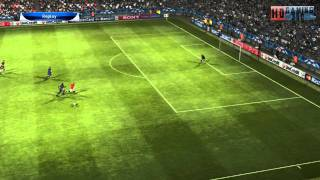 PES 2012 Champions League Mode Manchster United VS FC Barcelona 1ST Half HD