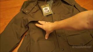 Review #1 - First look at Filson Lightweight Dry Cloth Cruiser Jacket