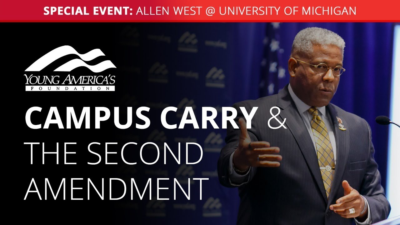 Campus carry and the Second Amendment | Allen West SPECIAL EVENT at University of Michigan - YAFTV