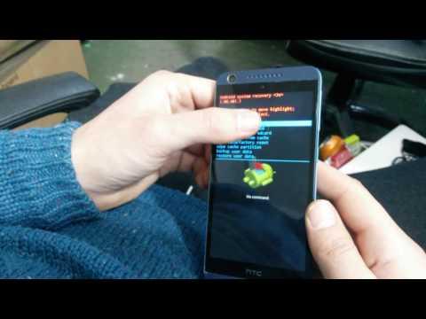 HTC Desire 626 626ph hard reset tutorial