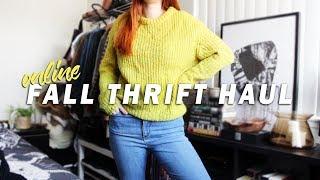 online fall thrift haul