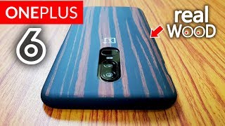 OnePlus 6 Official Ebony Wood Case - Best Looking Case Ever!