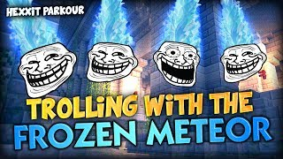 trolling ghost with the frozen falling meteors of destruction minecraft modded hexxit parkour map