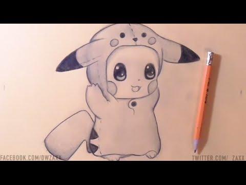 Dessin Pikachu Bebe Chibi Youtube